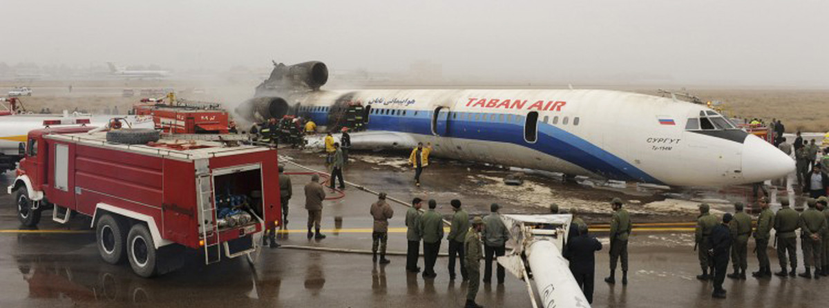 سانحه-برای-هواپیمای-توپولف-تابان-ایر-در-فرودگاه-مشهد